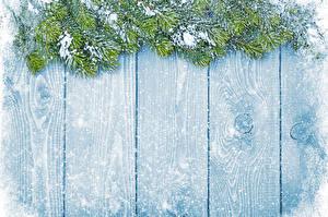 Bilder Neujahr Winter Schnee Bretter Ast decoration