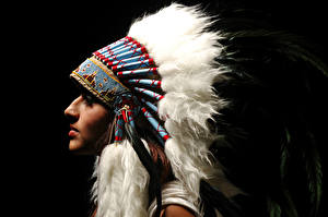 Image Feathers War bonnet Injun Girls
