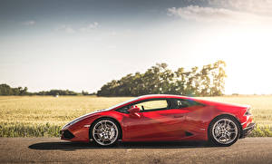 Images Lamborghini Red Side Expensive  auto