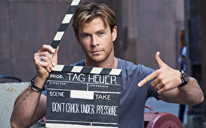 Hintergrundbilder Chris Hemsworth Mann TAG Heuer Gavin Bond 2015 Prominente