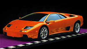 Wallpaper Lamborghini Orange Diablo VT supercar Cars