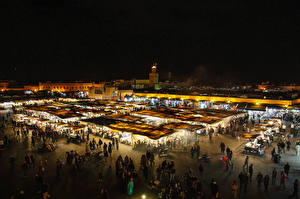 Picture Morocco People Night Marrakesh Cities