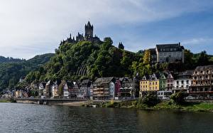 Image Germany River Castles Coast Cochem Moselle River Cities