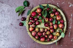 Fotos Äpfel Obst Blatt Lebensmittel