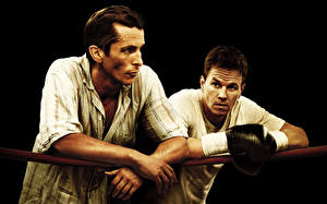 Image Boxing Mark Wahlberg Christian Bale Men Two The Fighter film Celebrities