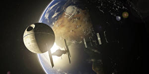 Wallpaper Star Wars - Movies Planets Ships Death Star Fantasy Space 3D_Graphics