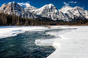 Hintergrundbilder Kanada Park Gebirge Winter Landschaftsfotografie Schnee Jasper park