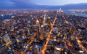 Hintergrundbilder Vereinigte Staaten Haus New York City Manhattan Von oben Megalopolis Städte