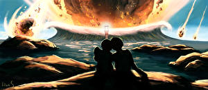 Images Fantastic world Asteroids Waves Love 2 Fantasy