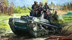Hintergrundbilder World of Tanks Panzer Soldaten Nikita Bolyakov LT vz 35 Spiele