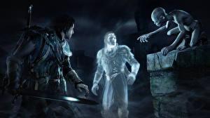 Bakgrunnsbilder Spøkelse Ringenes herre Middle-earth: Shadow of Mordor Sverd Talion Celebrimbor Gollum Spirit Monolith videospill Fantasy 3D_grafikk