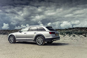 Picture Audi Silver color Metallic Clouds Side 2015 Audi A6 Allroad Sport automobile