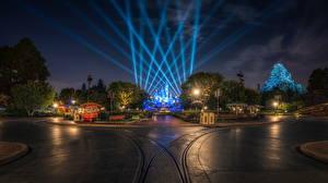 Fotos USA Park Disneyland Wege HDRI Kalifornien Anaheim Design Nacht Straßenlaterne Natur