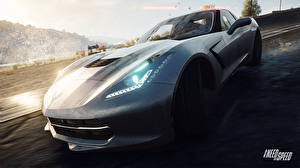 Pictures Need for Speed Chevrolet Headlights Rivals 2013 NFSR nfs Corvette C7 Stingray vdeo game Cars