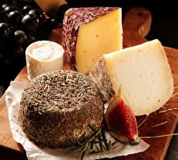 Fotos Käse Großansicht Echte Feige das Essen