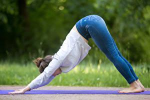 Fonds d'écran Yoga Jeans Jambe Filles