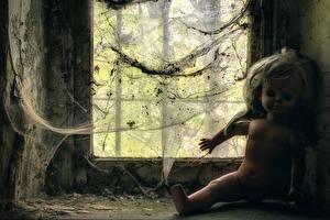 Bakgrunnsbilder Edderkoppsilke Dukke Vindu Gammel Puppeteer