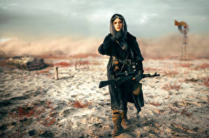 Fotos Scharfschützengewehr Scharfschütze Blackbird Militär Mädchens