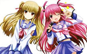 Sfondi desktop Angel Beats Microfono Due 2 Yusa, Yui Anime Ragazze