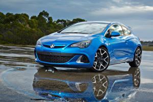 Bilder Opel Hellblau 2015 Holden Astra VXR Autos