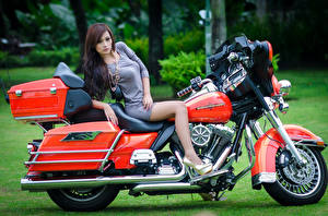 Pictures Harley-Davidson Asiatic Motorcycles Girls