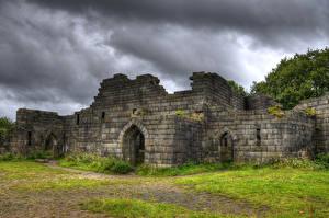 Fotos England Burg Ruinen Liverpool Castle