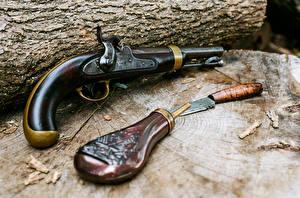 Image Retro Knife Pistol Army