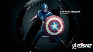Tapety na pulpit Avengers (film 2012) Chris Evans Kapitan Ameryka superbohater Tarcza (uzbrojenie) Steve Rogers film Fantasy Celebryci