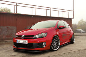 Pictures Volkswagen Tuning Red 2015 Golf VI GTI (Ingo Noak Tuning) auto