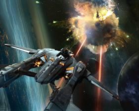 Bureaubladachtergronden Schip Star Citizen Schiet Computerspellen Fantasy Ruimte