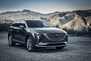 Bilder Mazda Gebirge Grau Metallisch 2015 Mazda CX-9 Autos