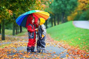 Pictures Autumn Boys 2 Parasol Jacket Children