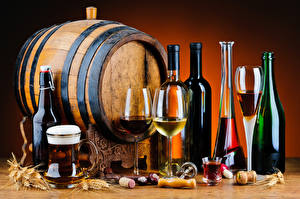 Pictures Barrel Drinks Beer Wine Stemware Bottle alcoholic beverages flavors barrel Food