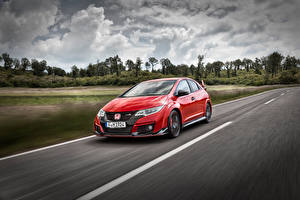 Photo Honda Red Motion 2015 Civic Type R Cars