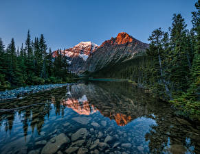 Bilder Kanada Park See Gebirge Landschaftsfotografie Jasper park