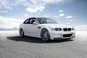 Picture BMW Sky White E46 M3 Cars