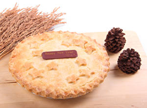 Hintergrundbilder Backware Obstkuchen Neujahr Zapfen Ähre das Essen