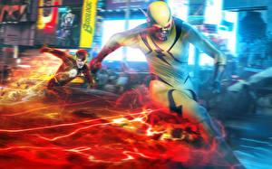 Photo Superheroes The Flash 2014 TV series The Flash hero Reverse-Flash Eobard Thawne Barry Allen Flash film Fantasy