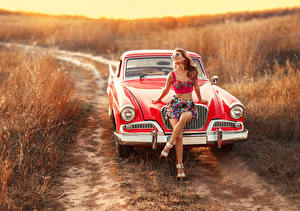 Image Retro Red photographer Irina Dzhul Girls Cars
