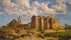 Hintergrundbilder Ruinen Malerei Tempel