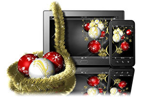 Wallpapers Holidays New year Balls Smartphones