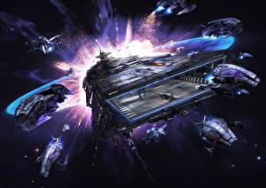 Bureaubladachtergronden Schip X Rebirth videogames Fantasy Ruimte