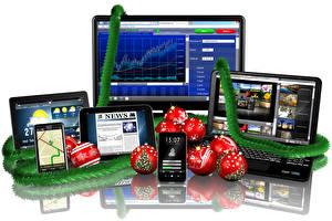 Photo Holidays New year Laptops Balls Smartphone Monitor