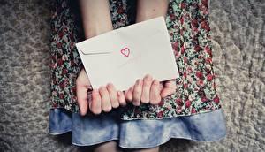 Bilder Brief Hand Herz Briefumschlag