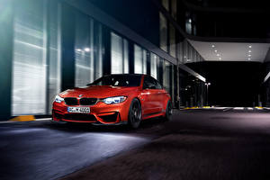 Image BMW Red Night 2014 AC Schnitzer M4 Coupe F82 Cars