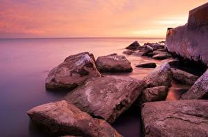 Bilder See Steine Vereinigte Staaten Küste Chicago Stadt Michigan Natur