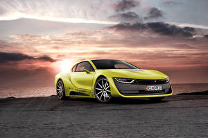 Pictures BMW Tuning Sky Lime color 2015 Rinspeed Etos concept (BMW i8) Cars