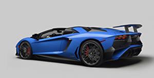 Wallpapers Lamborghini Blue Luxury 2015 Aventador LP 750-4 Cars