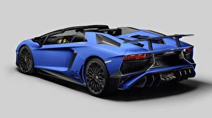Bilder Lamborghini Blau Luxus Hinten 2015 Aventador LP 750-4 Autos