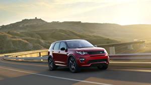 Papel de Parede Desktop Land Rover Estradas Vermelho Velocidade 2015 Startech Discovery Sport carro